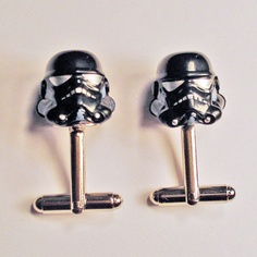 Storm trooper cuff links. For the nerdy..yet manly man in your life. :)