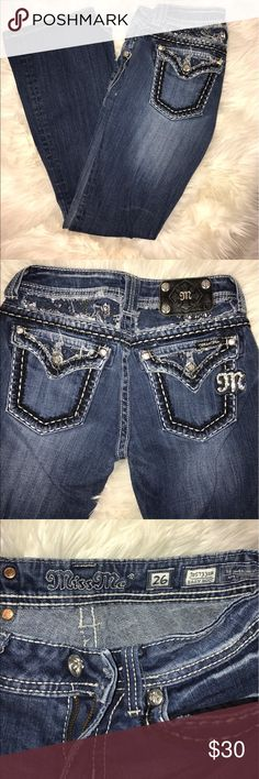 Miss Me Jeans Size 26 bedazzled Miss Me jeans, bootcut, great condition. Miss Me Jeans Boot Cut