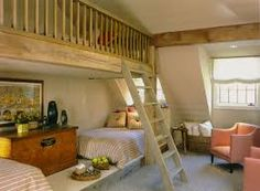Kids Bedroom Mezzanine master bedroom mezzanine idea.. not the furniture - the concept