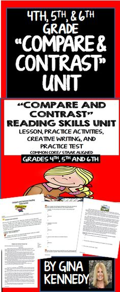 A thorough review of the important reading text structure skill, comparing and contrasting text. Excellent for introducing this concept, as a review, or as a reading intervention. 100% Common Core and STAAR aligned. Students will identify the types of inference skills to use when comparing and contrasting different types of text such as tone, theme and mood and other details. Students will, compare and contrast common tales, passages and poetry. A bonus ....$