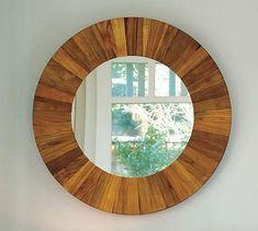 freckles chic: Mirrors - Reclaimed Teak Mirror | Pottery Barn - teak round wood mirror