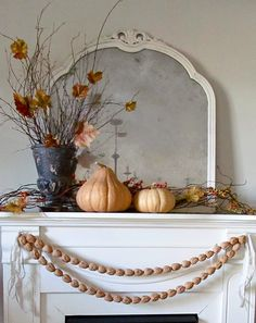 DIY fall mantle | Hymns and Verses