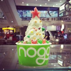 "@noggibrisbane's photo: ""The decorations are up and the Christmas carols are flowing...it's a bit early we know but our master froyo artist @notyongy came up with this #noggi #noggibrisbane #froyo #itsonlynovember #brisbane #spoonme #froyotree #greentea"""