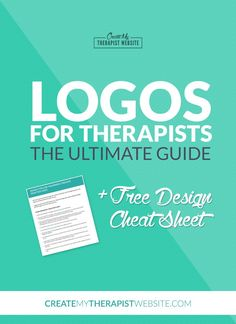 Your private practice logo is the identity of your business and one of the first things clients may notice when landing on your website. In this guide, you'll find all the options for creating a logo for your therapy practice plus a FREE cheat sheet with tips for designing a logo or working with a designer. Check it out: