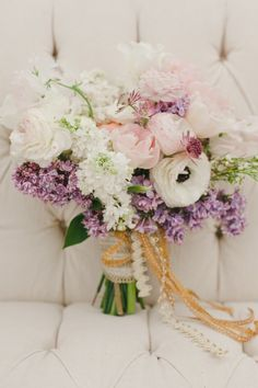 Charming Rustic Texas Wedding from The Nichols - bridal bouquet