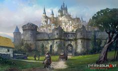 City of Azeria by TylerEdlinArt on DeviantArt Fantasy castle Fantasy city Fantasy landscape