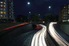 car head/tail light trails