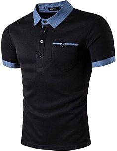 Whatlees Mens Hipster Casual Slim Fit Basic Polo Shirts Short Sleeve with Pocket/Tops