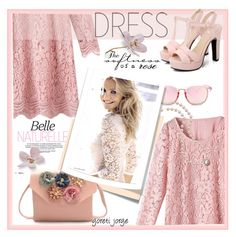 """Lace Dress"" by goreti ❤ liked on Polyvore featuring Post-It, CelebrityStyle, polyvoreeditorial and rosegal"