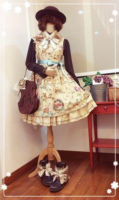 I hope sg has autumn…… Blouse, Jsk - Innocent World Hat - Victorian Maiden Bag - Jane Marple Lotta accessaries - R-series Shoes - ecco
