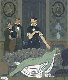 Marcel Schwob – MM. Burke et Hare, ilustración de Georges Barbier (1929)