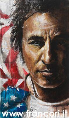"""""""Il successo rende la vita più facile, ma non rende il vivere più facile."""" #BruceSpringsteen #arte #quadri #art #paintings #francori #modena #musica #music  Visita il mio sito: www.francori.it"""