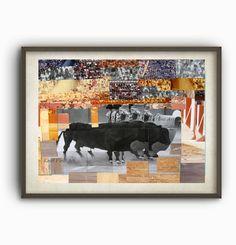 Torero Print, Collage, Art Print, Instant download, Printable, Art download, 1 JPG