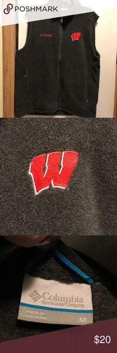 Colombia Wisconsin Badgers Fleece Vest Never been worn! Just too big for me! Jackets & Coats Vests