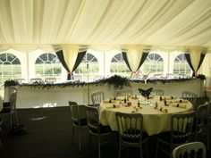Black & Cream theme - #marqueehireuk #marqueehire #Notts #Derby #Leicester #weddings #corporate #events