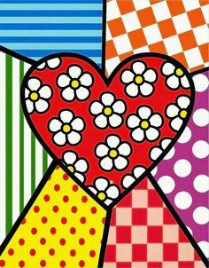 Formas abstratas Doodle Art, Arte Country, Valentines Art, Heart Wallpaper, Arte Pop, Heart Art, Art Plastique, Painted Rocks, Folk Art