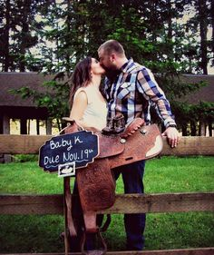 Baby announcement pictures! #western #babyannouncement #babycowboyboots #saddle…