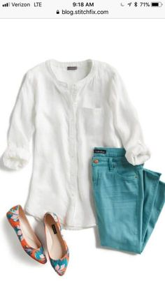 1db9e72da7 How can you not lwant a crisp white shirt like this in summer. Excellent  length