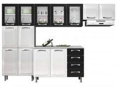 Cozinha Compacta Itatiaia Premium com Balcão - 13 Portas 4 Gavetas