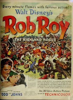 "Richard Todd and Glynis Johns in ""Rob Roy"" ad (LOOK magazine; 1954)"
