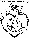 God so loved the world that He gave His one and only Son (John 3:16) coloring page