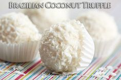 Brazilian Coconut Truffle ~~~ The Brazilian chocolate truffle!!! these coconut truffles are served in every birthday party and special occasion.