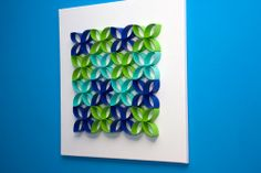 .Toilet paper roll wall art