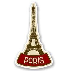2 x Paris France Vinyl Sticker #4619