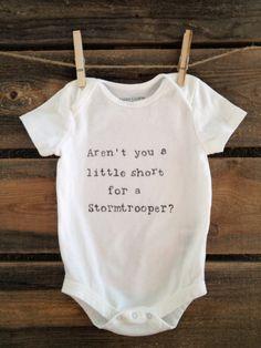 Stormtrooper Onesie by SatMorningPancakes on Etsy Cute Babies, Baby Kids, Geek Baby, Star Wars Baby, Nerd Love, Niece And Nephew, Cute Baby Clothes, Future Baby, Baby Love