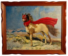 Altered Thrift Store Painting El Caballo by BenJHutchisonArt, $180.00