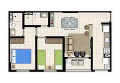 Resultado de imagem para pavimento tipo 2 quartos