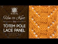 How to Knit the Totem Pole Lace Panel Stitch | NEW STITCH A DAY