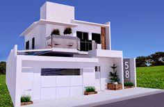 Decor Salteado - Blog de Decoração e Arquitetura : 20 Fachadas de casas modernas com muros e portões!