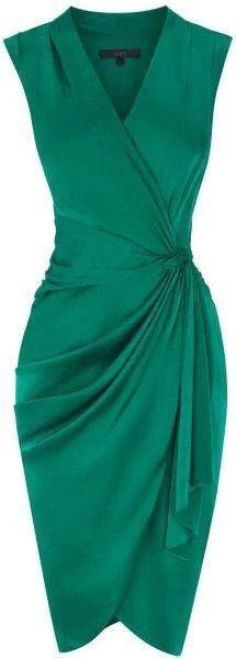 Vestido verde tranapassado