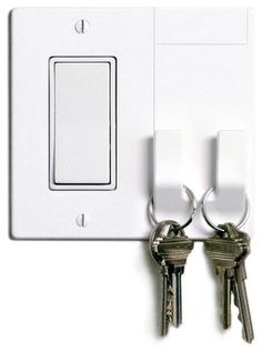 Walhub Light Switch Plate With Hooks modern-switch-plates-and-outlet-covers