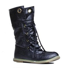 Trendy Round Toe and Lace-Up Design Women's Sweater Boots - Shoe Fashions 2019 Cheap Cute Shoes, Cheap Boots, Trendy Shoes, Cross Training, Top Casual, Site Nike, Sweater Boots, Boots Online, Winter Shoes