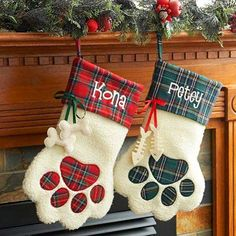 Pet Christmas Stockings, Pet Stockings, Christmas Gnome, Christmas Animals, Christmas Projects, Christmas Crafts Sewing, Cat Christmas Ornaments, Country Christmas, Baby Christmas Stocking