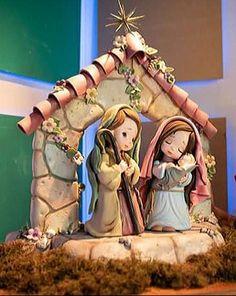 Susu Christmas Nativity Set, Polymer Clay Christmas, Christmas Crafts, Christmas Ornaments, Polymer Clay Ornaments, Polymer Clay Crafts, Kids Toys For Boys, Clay Wall Art, Xmas Greetings