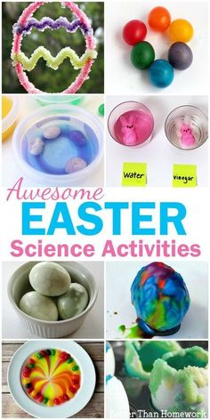 Have fun learning with these Easter Science Activities for Kids. Experiment with Easter candy, eggs, and even learning in the garden. These science experiments are fun, simple, and great to do at home. Toddler Science Experiments, Easy Science, Preschool Science, Science For Kids, Chemistry Experiments, Science Projects, Easter Activities For Kids, Easter Crafts For Kids, Stem Activities