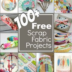 Clear out your left over fabrics with over 100 free scrap fabric projects. This mega list will have you sewing your stash and ready for a shopping trip!