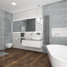 Minimalistická koupelna GREY VIEW - Pohled od vstupu