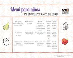 menú infantil #nutrición  http://oni.org.mx/