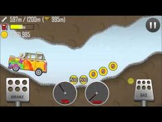 Hill Climb Racing With Hippie Van On Cave1