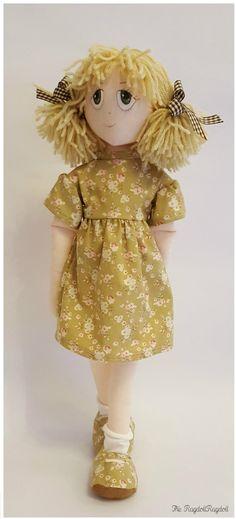 Handmade Rag Doll Adorable 'Apple Rags' by TheRagdollRagdoll