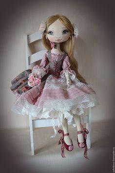 Купить Вероника. Большая текстильная кукла. - кукла, будуарная, подарок, подарок для женщины, украшение дома