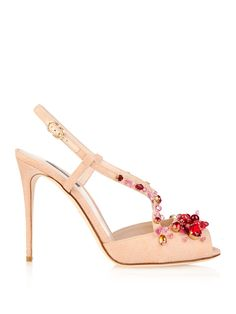 Rose-brocade embellished sandals | Dolce & Gabbana | MATCHESFASHION.COM