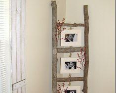 Marco para fotos con troncos de madera