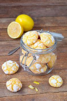 Lemon-crinkles-Edyta-Guhl- Bozonarodzeniowe-ciasteczka-Edyta-Guhl Kitchen Chemistry, Christmas Baking, Donuts, Cake Recipes, Cereal, Muffins, Lemon, Food And Drink, Sweets