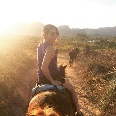 Horseback riding into the sunset in the valley of Viñales, Cuba 🇨🇺 . . . . #fourthyearlife #vacation #traveling #travelgram #cuba #vinales #cubancigars #horsebackriding #sunset #instatravel #trip #passportready #ilovetravel #travelphotography #getaway #nointernetincuba #instavacation #postcardsfromtheworld