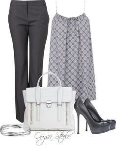 """""""Grey and White"""" by orysa on Polyvore"""